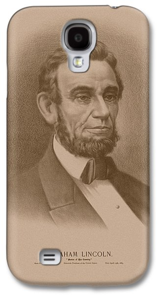 Abraham Lincoln - Savior Of His Country Galaxy S4 Case by War Is Hell Store
