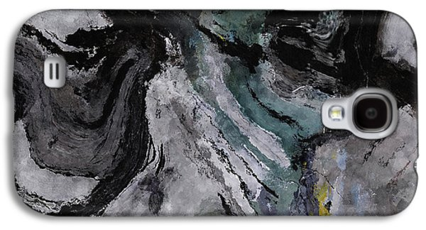 Abstract And Minimalist Acryling Painting In Gray Color Galaxy S4 Case