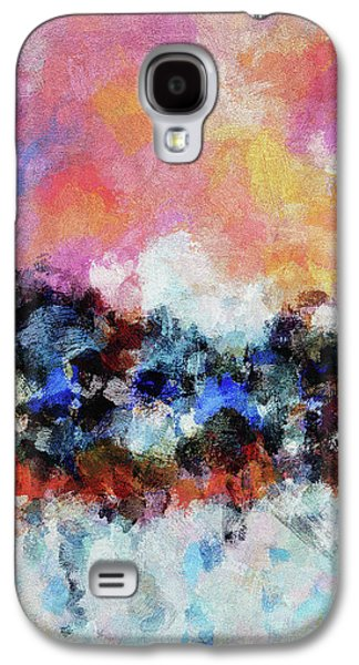 Abstract And Minimalist Landscape Painting Galaxy S4 Case by Ayse Deniz