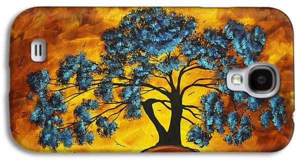Abstract Art Original Landscape Painting Dreaming In Color By Madartmadart Galaxy S4 Case