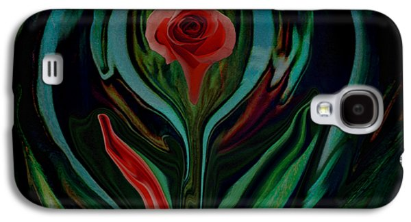 abstract Art The Rose A Symbol Of Love  Galaxy S4 Case by Sherri's Of Palm Springs