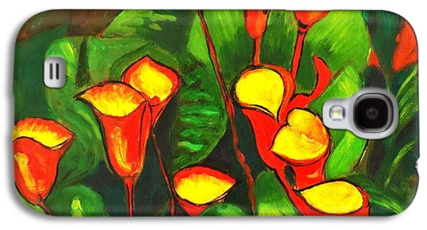 Abstract Arum Lilies Galaxy S4 Case by Caroline Street