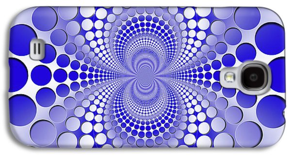 Abstract Blue And White Pattern Galaxy S4 Case