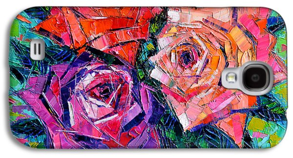Abstract Bouquet Of Roses Galaxy S4 Case