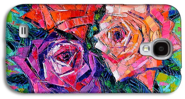 Rose Galaxy S4 Case - Abstract Bouquet Of Roses by Mona Edulesco