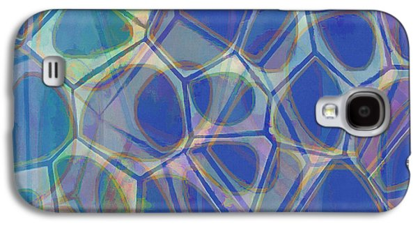 Cells 7 - Abstract Painting Galaxy S4 Case by Edward Fielding