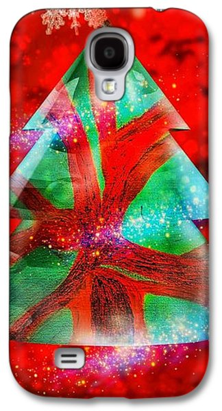 Abstract Christmas Bright Galaxy S4 Case