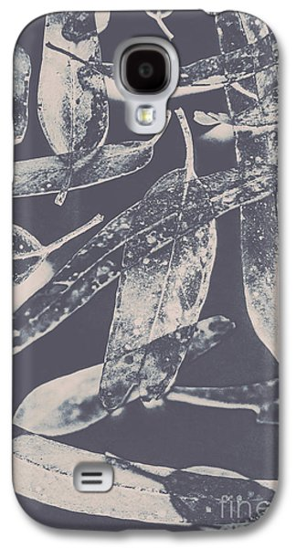 Abstract Design Tree Leaves Background Galaxy S4 Case