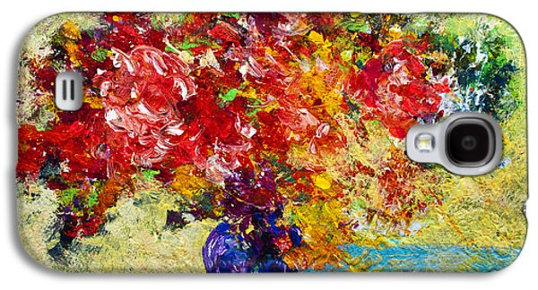 Daisy Galaxy S4 Case - Abstract Floral 1 by Marion Rose