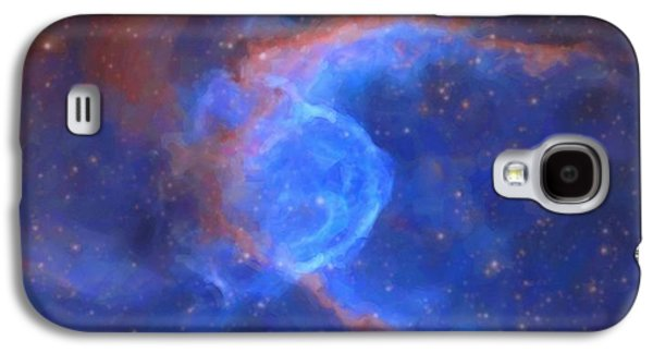 Abstract Galactic Nebula With Cosmic Cloud 10 Xl Galaxy S4 Case