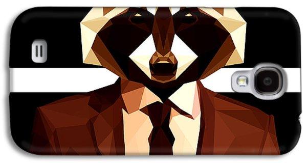 Abstract Geometric Raccoon Galaxy S4 Case