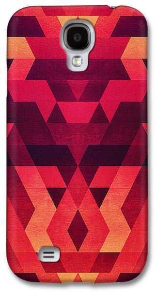 Abstract  Geometric Triangle Texture Pattern Design In Diabolic Future Red Galaxy S4 Case by Philipp Rietz