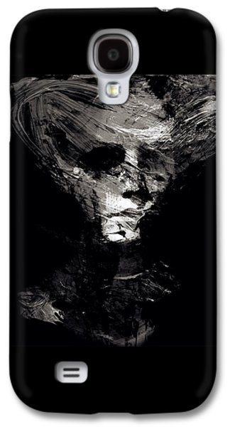 Abstract Ghost Black And White Galaxy S4 Case by Marian Voicu