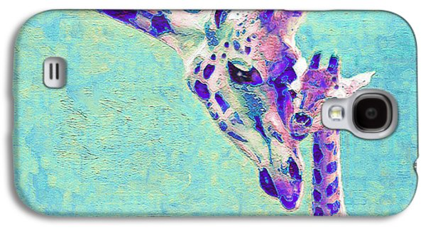Abstract Giraffes Galaxy S4 Case by Jane Schnetlage