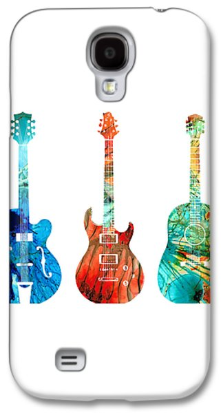 Abstract Guitars By Sharon Cummings Galaxy S4 Case by Sharon Cummings