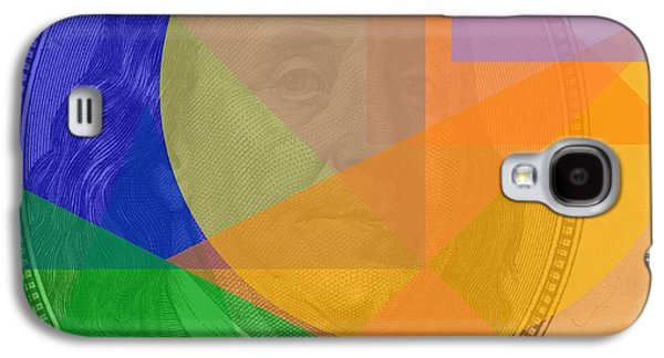 Abstract Hundred Dollar Bill Galaxy S4 Case by Dan Sproul