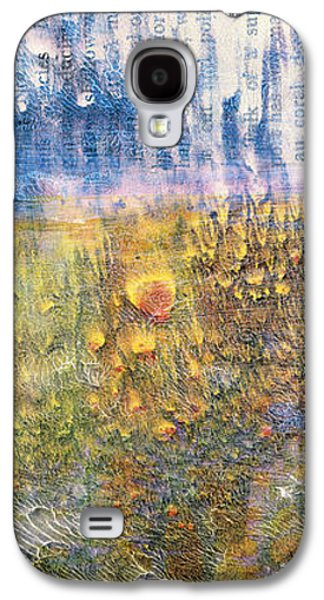 Abstract Landscape Art - Only Words - Sharon Cummings Galaxy S4 Case by Sharon Cummings