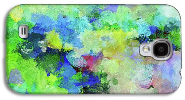 Abstract Landscape Painting Galaxy S4 Case by Ayse Deniz