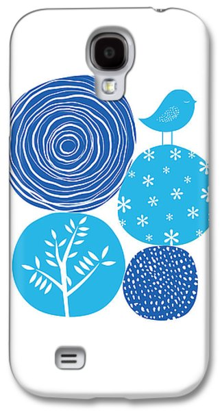 Abstract Nature Blue Galaxy S4 Case by BONB Creative