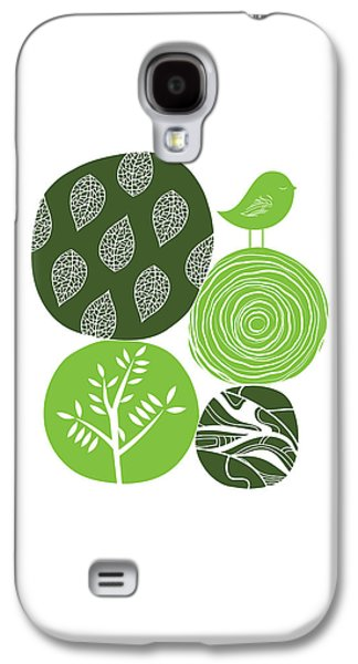 Abstract Nature Green Galaxy S4 Case by BONB Creative
