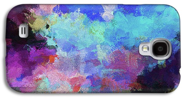 Abstract Nature Painting Galaxy S4 Case by Ayse Deniz