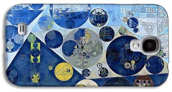 Abstract Painting - Kashmir Blue Galaxy S4 Case by Vitaliy Gladkiy