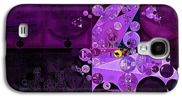 Abstract Painting - Rich Lilac Galaxy S4 Case