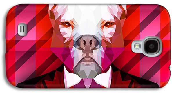 Abstract Pitbull 1 Galaxy S4 Case by Gallini Design