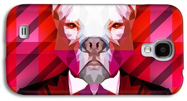 Abstract Pitbull 1 Galaxy S4 Case