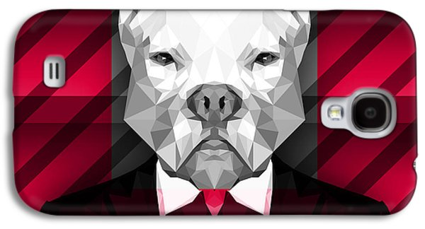 Abstract Pitbull 3 Galaxy S4 Case by Gallini Design