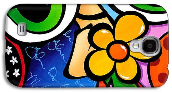 Abstract Pop Art Original Painting Scratch N Sniff By Fidostudio Galaxy S4 Case by Tom Fedro - Fidostudio