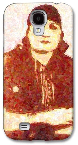 Abstract Portrait Of Kurdish Singer Meryem Xan Galaxy S4 Case by Adam Asar