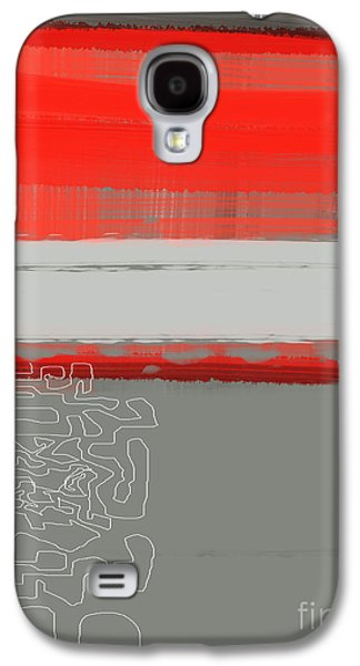 Abstract Red 1 Galaxy S4 Case by Naxart Studio