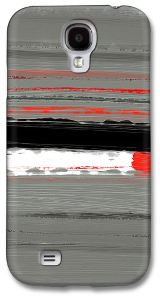 Modern Abstract Galaxy S4 Cases - Abstract Red 4 Galaxy S4 Case by Naxart Studio