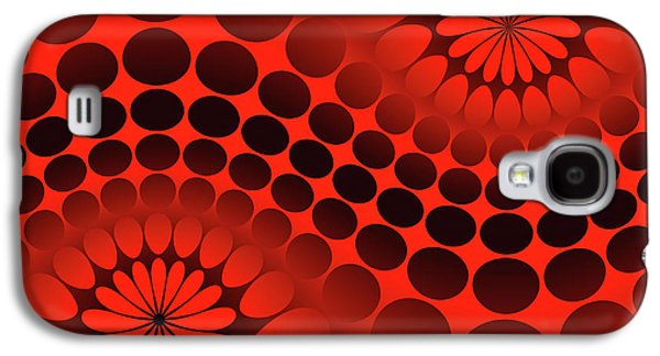 Abstract Red And Black Ornament Galaxy S4 Case
