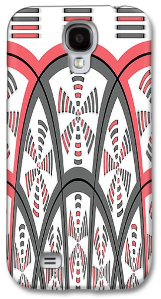 Abstract Red And Grey Galaxy S4 Case