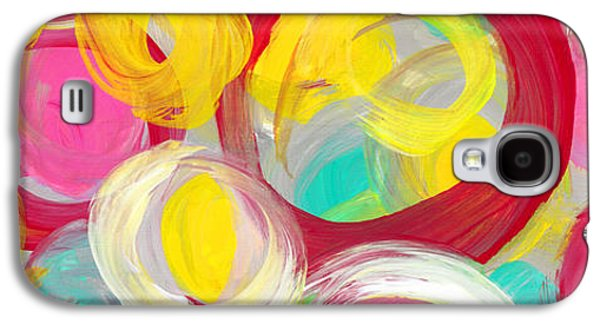 Abstract Rose Garden In The Morning Light Panoramic Galaxy S4 Case by Amy Vangsgard