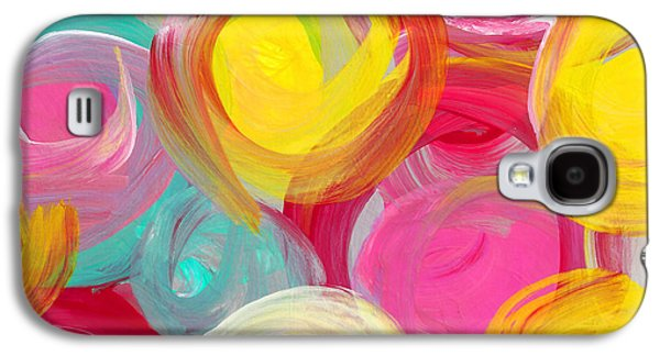Abstract Rose Garden In The Morning Light Square 1 Galaxy S4 Case by Amy Vangsgard