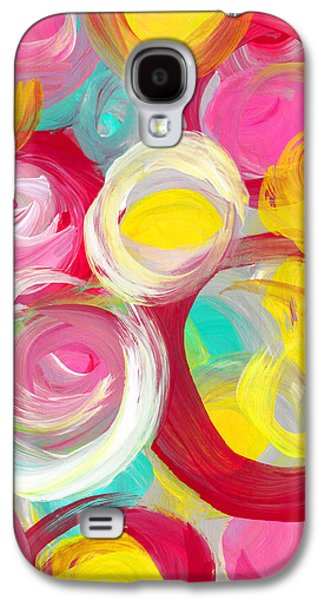 Abstract Rose Garden In The Morning Light Vertical 2 Galaxy S4 Case by Amy Vangsgard
