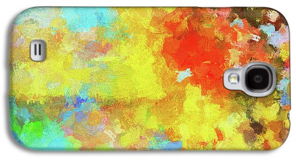 Abstract Seascape Painting With Vivid Colors Galaxy S4 Case by Ayse Deniz