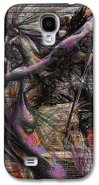 Abstract Sketch 1334 Galaxy S4 Case