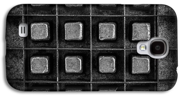 Abstract Squares Black And White Galaxy S4 Case by Edward Fielding