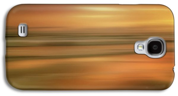 Abstract Sunset Illusions - Gold Galaxy S4 Case