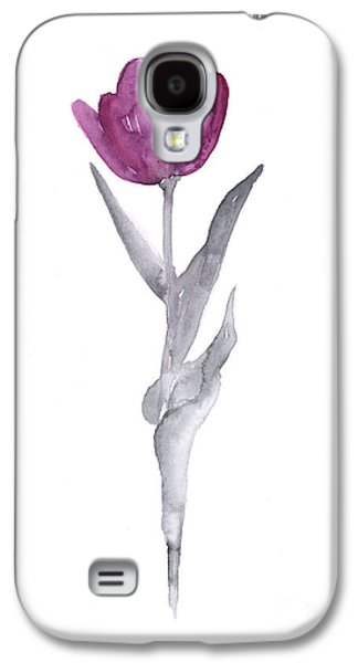 Tulip Galaxy S4 Case - Abstract Tulip Flower Watercolor Painting by Joanna Szmerdt