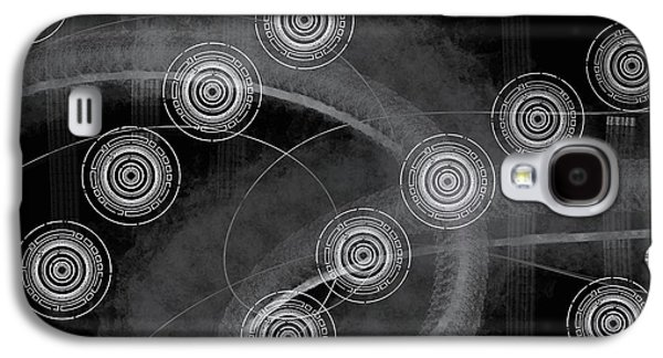 Abstract Universal Black White Galaxy S4 Case by Edward Fielding