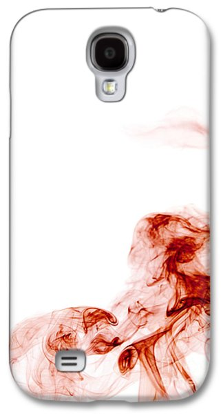 Abstract Vertical Blood Red Mood Colored Smoke Wall Art 01 Galaxy S4 Case by Alexandra K