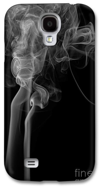 Abstract Vertical Monochrome White Mood Colored Smoke Wall Art 02 Galaxy S4 Case