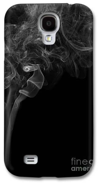 Abstract Vertical Monochrome White Mood Colored Smoke Wall Art 05 Galaxy S4 Case by Alexandra K