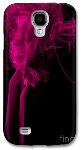 Abstract Vertical Purple Mood Colored Smoke Wall Art 03 Galaxy S4 Case by Alexandra K