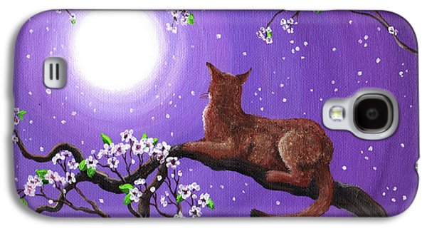 Abyssinian In Amethyst Moonlight Galaxy S4 Case by Laura Iverson
